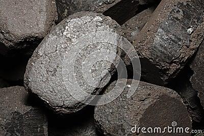 Pressed coal