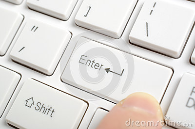 Pressing enter key