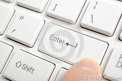 Pressing enter key