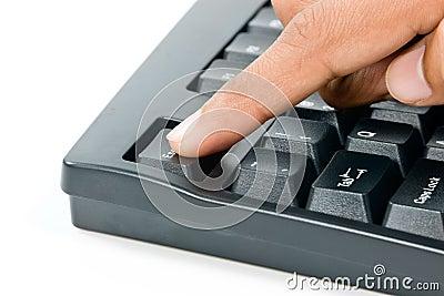 Pressing escape key on computer keyboard