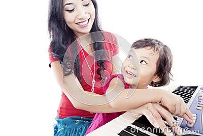 Pressing the piano button