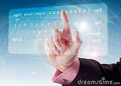 Pressing virtual Keyboard
