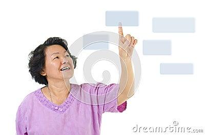 Pressing on virtual screen button