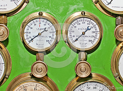 Pressure Gauges Editorial Image