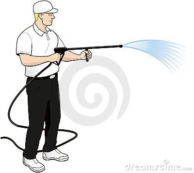 Free Pressure Power Soft Washing Clip Art Stock Photo - 20388900