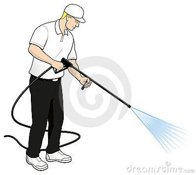 Pressure Power Washing Tech Clip Art