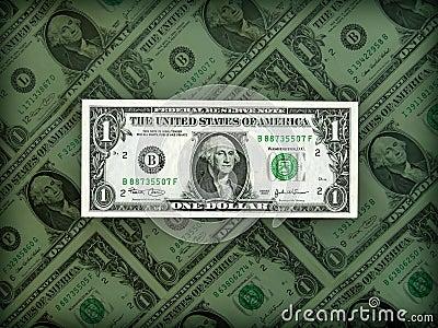 Prestigio americano del dólar en la posición clara