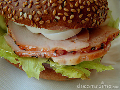 Presunto e sanduíche dos ovos