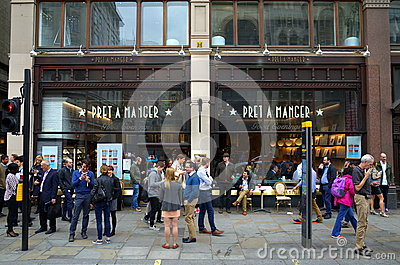 Pret A Manger London Editorial Stock Photo