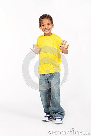 Preteen african boy