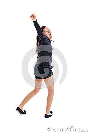Preteen dancing girl