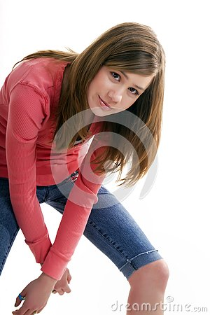 Preteen Female In The Photo Studio