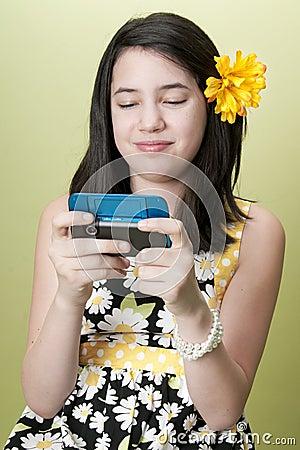Preteen Girl Texting