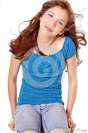 Preteen School Girl