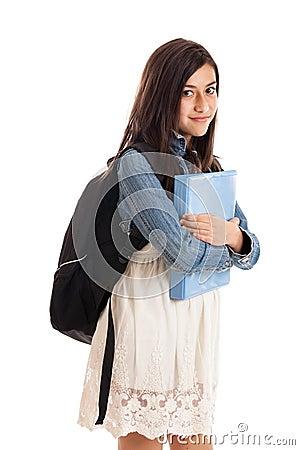 Preteen school girl portrait
