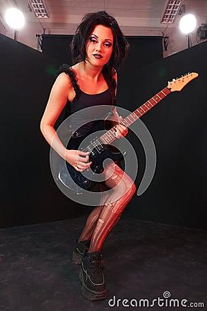 Pretending to be a rockstar