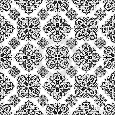 Preto floral do papel de parede imagens de stock royalty - Papel de pared blanco y negro ...
