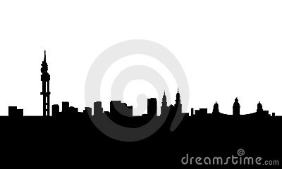 Pretoria city skyline vector isolated