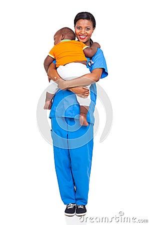 African nurse child