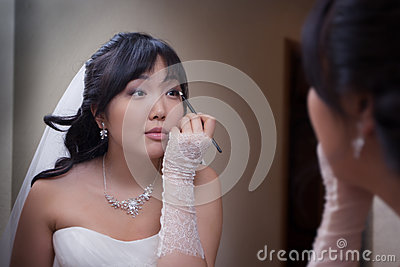 Pretty asian bride