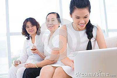 Pretty asian family