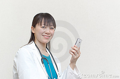 Pretty Asian woman doctor