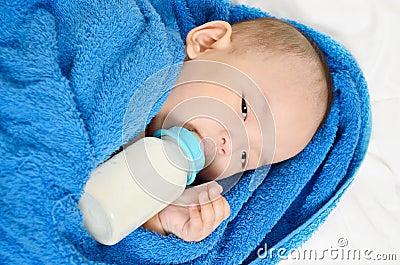 Gay milk bottle drinking