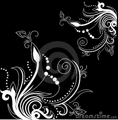 Pretty background with floral designs