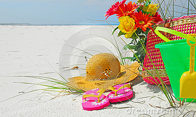 Pretty beach accessories