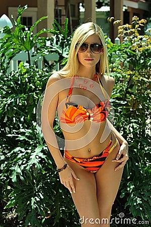 Free Pretty Blond Girl Wearing Bikini Royalty Free Stock Image - 31088316