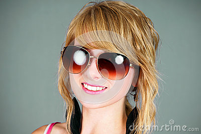Blond with sunglasses