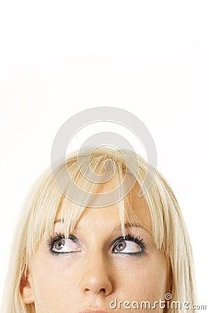Pretty blonde thinking
