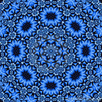 Pretty blue floral mandala