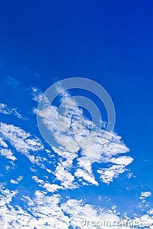 Pretty blue sky Vertical