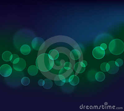 Pretty Bokeh abstract background in green and blue