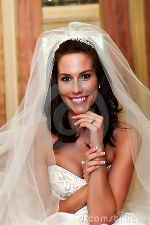A Pretty Bride Posing With Her Ring