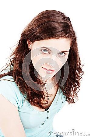 Pretty brunette girl