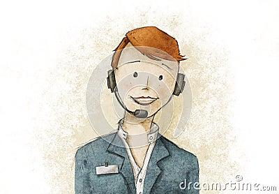Pretty business customer service woman