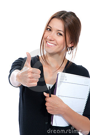 Free Pretty Business Woman Thumb Up Royalty Free Stock Images - 20404049