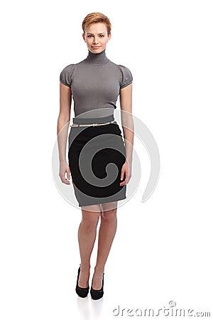 Free Pretty Businesswoman In Mini Skirt Royalty Free Stock Photo - 33785855