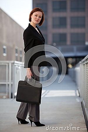Pretty caucasian blond businesswoman