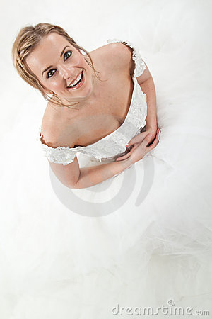 Pretty caucasian bride
