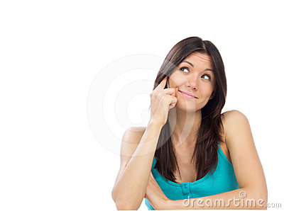 Pretty cheerful woman talking on the mobile phone