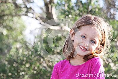 Pretty child smiling