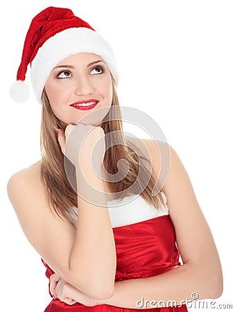 Pretty christmas girl