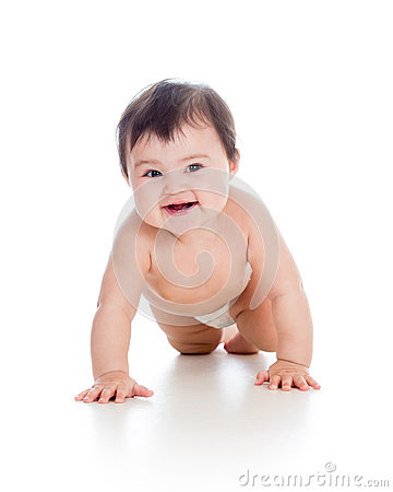 Pretty crawling baby girl
