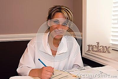 Pretty doctor