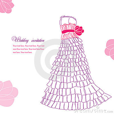 Pretty dress illustration