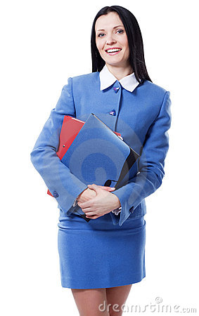 Pretty elegant businesswoman