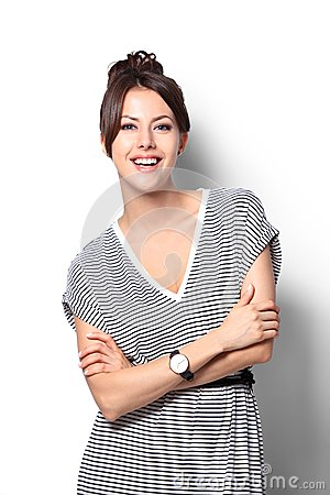 Free Pretty Excited Woman Happy Smile, Young Attractive Girl Portrait Stock Photography - 55741212